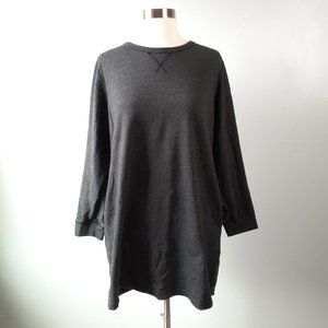 {Ellos} Charcoal Gray Terrycloth Tunic Size 12